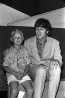 Beatles : John Lennon with 7 year old namesake