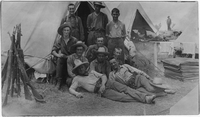 Photograph of soldiers at camp