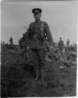 Photograph of a soldier in a field