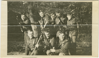 Photograph of soldiers with bayonets