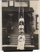 Photograph of three women and baby