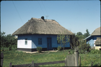 Thatched home on the road to Kishinev/Chișinău in the Moldavian SSR