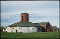 Round stone barn, part of the Bell farm in the 1880s