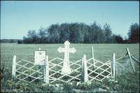 [Grave] marker [near] Winnipegosis