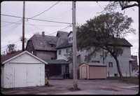 Side view of houses and sheds in Winnipeg