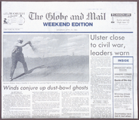 """Winds conjure up dust bowl ghosts"" Globe & Mail article (April 25, 1981) by Jeff Sallot"
