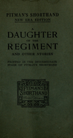 A daughter of the regiment and other stories