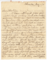 Letter to Mrs. Stepler from Gordon Stepler, August 10th 1916