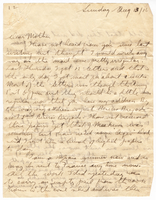 Letter to Mrs. Stepler from Gordon Stepler, August 13th 1916