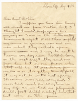 Letter to his Aunt Dollie from Gordon Stepler, August 14th 1916