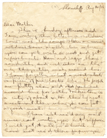 Letter to Mrs. Stepler from Gordon Stepler, August 20th 1916