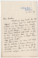 Letter to VW from Ada Ellen Bayly 11 February 1887