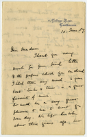 Letter to VW from Ada Ellen Bayly 10 June 1887