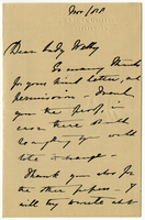 Letter to VW from Miss D. Beale November 1888