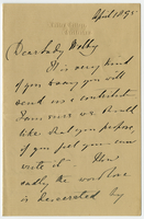Letter to VW from Miss D. Beale 18 April 1895