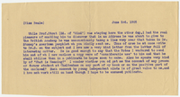 Letter to Miss D. Beale from VW 3 June 1905