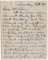 Letter to Mrs. Stepler from Gordon Stepler, October 3rd 1916