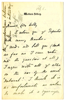 Letter to VW from Adeline Bedford 6 February [1889?]