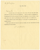 Letter to Henri Bergson from VW 19 July 1905