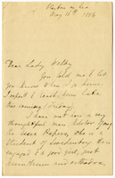 Letter to VW from Mary Everest Boole 16 May 1884