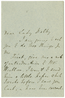 Letter to VW from Mary Everest Boole [1884?]