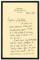 Letter to VW from Mary Benson 5 November 1900
