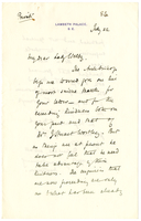 Letter to VW from Mary Benson 22 July 1884