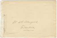 Envelope titled Prof. Sully 1904-05