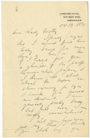 Letter to VW from James Sully 13 October 1891