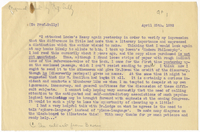 Transcription of letter to James Sully from VW 25 April 1892
