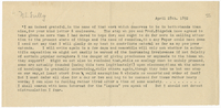 Letter to James Sully from VW 28 April 1892