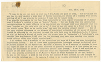 Transcription of letter to James Sully from VW 10 January 1893