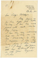 Letter to VW from James Sully 23 January 1894