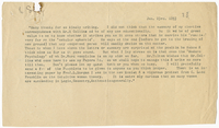 Transcription of letter to James Sully from VW 23 January 1893