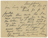 Letter to VW from James Sully 29 January 1893