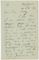 Letter to VW from James Sully 4 February 1894