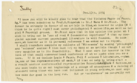 Letter to James Sully from VW 13 December 1894