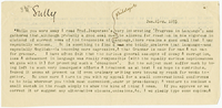 Letter to James Sully from VW 23 January 1895