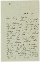 Letter to VW from James Sully 30 January 1895