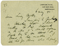 Letter to VW from James Sully 6 May 1895