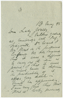 Letter to VW from James Sully 13 May 1895