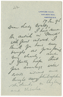 Letter to VW from James Sully 19 January 1896