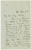 Letter to VW from James Sully 26 June 1896