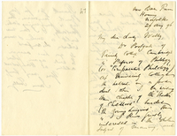Letter to VW from James Sully 29 August 1896