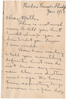 Letter to Mrs. Stepler from Gordon Stepler, January 8th 1917