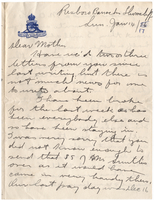 Letter to Mrs. Stepler from Gordon Stepler, January 14th 1917