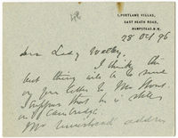 Letter to VW from James Sully 28 October 1896
