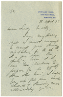 Letter to VW from James Sully 8 April 1897
