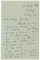 Letter to VW from James Sully 8 July 1901