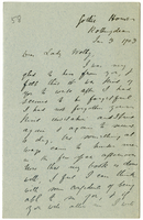 Letter to VW from James Sully 3 January 1903